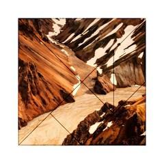 Iceland Mountains Snow Ravine Acrylic Tangram Puzzle (6  X 6 )