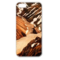 Iceland Mountains Snow Ravine Apple Seamless Iphone 5 Case (clear)