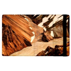 Iceland Mountains Snow Ravine Apple Ipad 3/4 Flip Case by BangZart