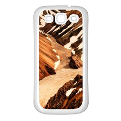 Iceland Mountains Snow Ravine Samsung Galaxy S3 Back Case (white)