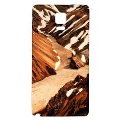 Iceland Mountains Snow Ravine Galaxy Note 4 Back Case