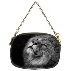 Feline Lion Tawny African Zoo Chain Purses (two Sides)