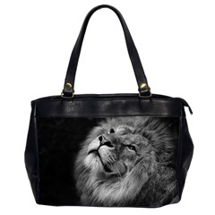 Feline Lion Tawny African Zoo Office Handbags (2 Sides)