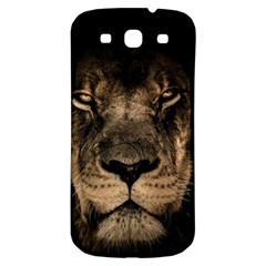 African Lion Mane Close Eyes Samsung Galaxy S3 S Iii Classic Hardshell Back Case