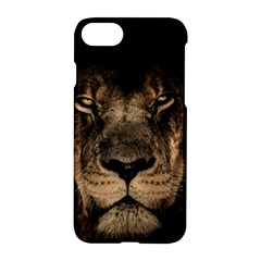 African Lion Mane Close Eyes Apple Iphone 7 Hardshell Case