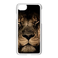 African Lion Mane Close Eyes Apple Iphone 7 Seamless Case (white)