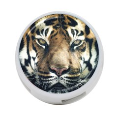 Tiger Bengal Stripes Eyes Close 4 Port Usb Hub (two Sides)