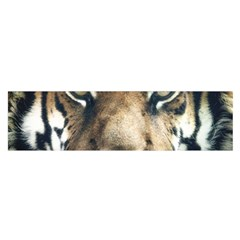 Tiger Bengal Stripes Eyes Close Satin Scarf (oblong)