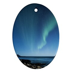 Aurora Borealis Lofoten Norway Ornament (oval)