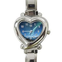 Aurora Borealis Lofoten Norway Heart Italian Charm Watch