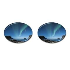 Aurora Borealis Lofoten Norway Cufflinks (oval)