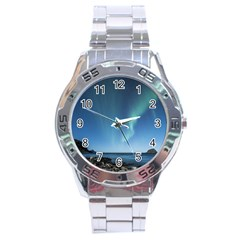 Aurora Borealis Lofoten Norway Stainless Steel Analogue Watch