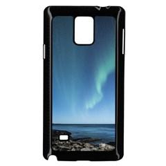 Aurora Borealis Lofoten Norway Samsung Galaxy Note 4 Case (black)