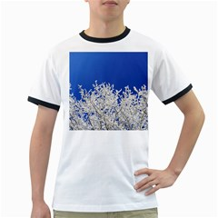 Crown Aesthetic Branches Hoarfrost Ringer T Shirts