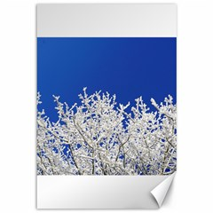 Crown Aesthetic Branches Hoarfrost Canvas 12  X 18