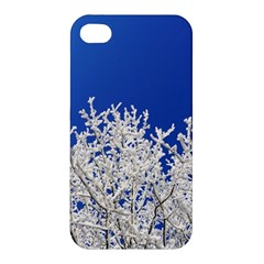 Crown Aesthetic Branches Hoarfrost Apple Iphone 4/4s Premium Hardshell Case