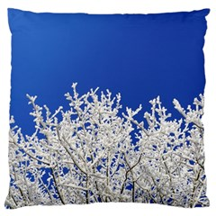 Crown Aesthetic Branches Hoarfrost Standard Flano Cushion Case (one Side) by BangZart