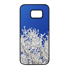 Crown Aesthetic Branches Hoarfrost Samsung Galaxy S7 Edge Black Seamless Case