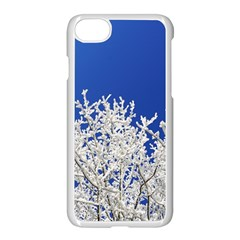 Crown Aesthetic Branches Hoarfrost Apple Iphone 8 Seamless Case (white) by BangZart