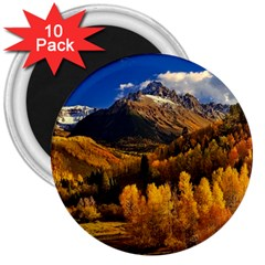 Colorado Fall Autumn Colorful 3  Magnets (10 Pack)