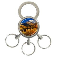 Colorado Fall Autumn Colorful 3 Ring Key Chains by BangZart