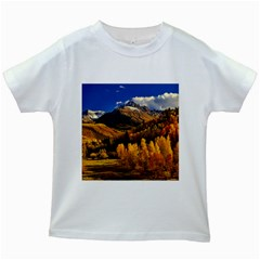 Colorado Fall Autumn Colorful Kids White T Shirts