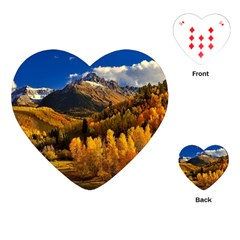 Colorado Fall Autumn Colorful Playing Cards (heart)  by BangZart