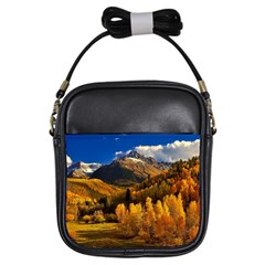Colorado Fall Autumn Colorful Girls Sling Bags by BangZart