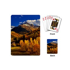 Colorado Fall Autumn Colorful Playing Cards (mini)  by BangZart