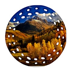 Colorado Fall Autumn Colorful Round Filigree Ornament (two Sides) by BangZart