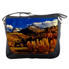 Colorado Fall Autumn Colorful Messenger Bags