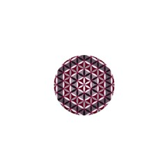 Flower Of Life Pattern Red Grey 01 1  Mini Buttons by Cveti