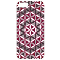 Flower Of Life Pattern Red Grey 01 Apple Iphone 5 Classic Hardshell Case by Cveti