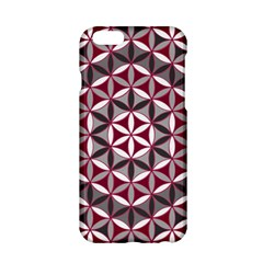 Flower Of Life Pattern Red Grey 01 Apple Iphone 6/6s Hardshell Case by Cveti