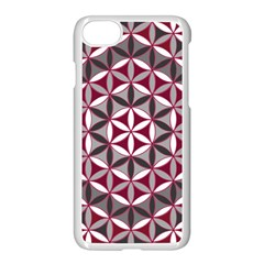 Flower Of Life Pattern Red Grey 01 Apple Iphone 7 Seamless Case (white) by Cveti