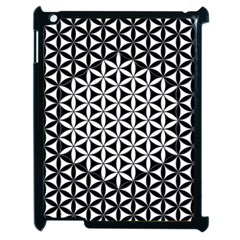 Flower Of Life Pattern Black White 1 Apple Ipad 2 Case (black) by Cveti