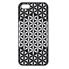 Flower Of Life Pattern Black White 1 Apple Iphone 5 Seamless Case (black) by Cveti