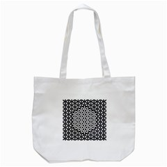 Flower Of Life Pattern Black White 1 Tote Bag (white) by Cveti