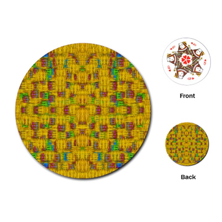 Rainbow Stars In The Golden Skyscape Playing Cards (Round)