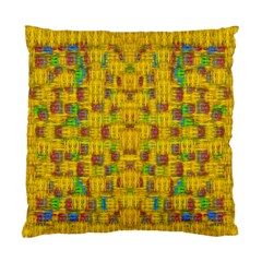 Rainbow Stars In The Golden Skyscape Standard Cushion Case (one Side) by pepitasart