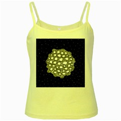 Strange Planet Yellow Spaghetti Tank by jumpercat