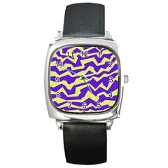 Polynoise Vibrant Royal Square Metal Watch by jumpercat