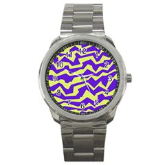 Polynoise Vibrant Royal Sport Metal Watch by jumpercat