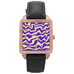 Polynoise Vibrant Royal Rose Gold Leather Watch  by jumpercat
