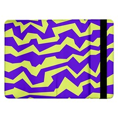 Polynoise Vibrant Royal Samsung Galaxy Tab Pro 12 2  Flip Case by jumpercat