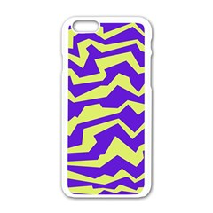 Polynoise Vibrant Royal Apple Iphone 6/6s White Enamel Case by jumpercat