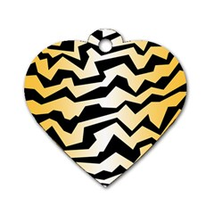 Polynoise Tiger Dog Tag Heart (one Side) by jumpercat