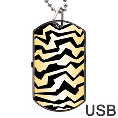 Polynoise Tiger Dog Tag Usb Flash (two Sides) by jumpercat