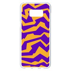 Polynoise Pumpkin Samsung Galaxy S8 Plus White Seamless Case by jumpercat