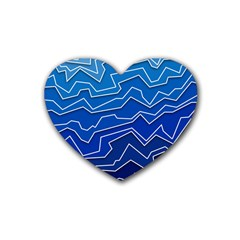 Polynoise Deep Layer Rubber Coaster (heart)  by jumpercat